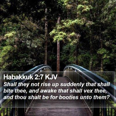 Habakkuk 2:7 KJV Bible Verse Image