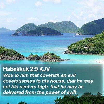 Habakkuk 2:9 KJV Bible Verse Image