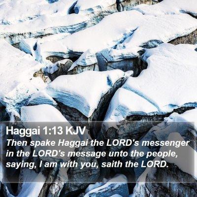 Haggai 1:13 KJV Bible Verse Image