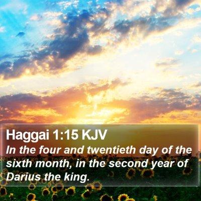 Haggai 1:15 KJV Bible Verse Image