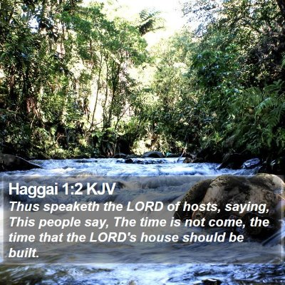 Haggai 1:2 KJV Bible Verse Image
