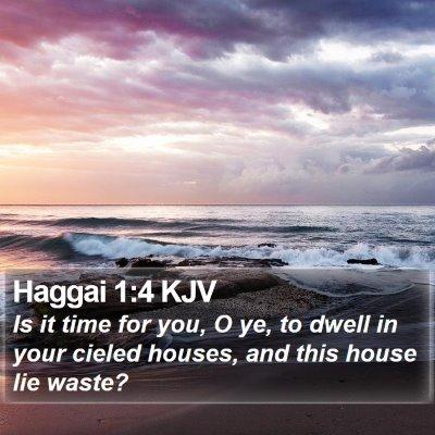 Haggai 1:4 KJV Bible Verse Image