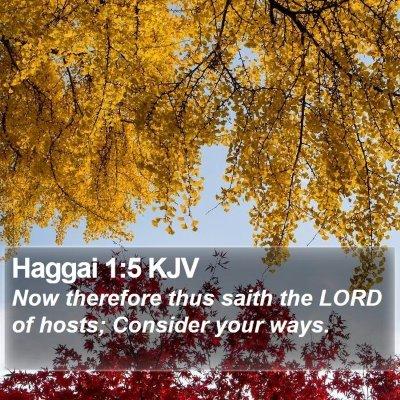 Haggai 1:5 KJV Bible Verse Image