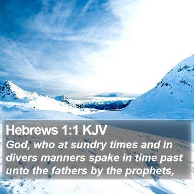 Hebrews 1:1 KJV Bible Verse Image