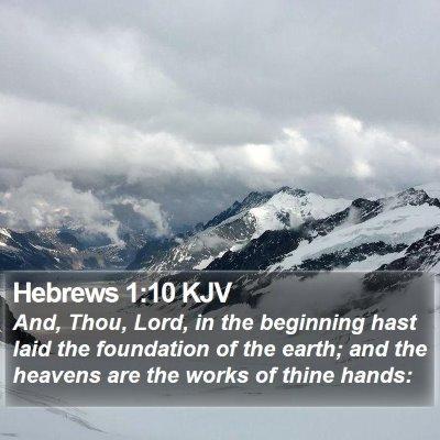 Hebrews 1:10 KJV Bible Verse Image