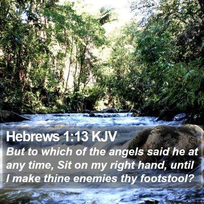 Hebrews 1:13 KJV Bible Verse Image