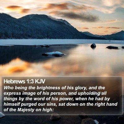 Hebrews 1:3 KJV Bible Verse Image