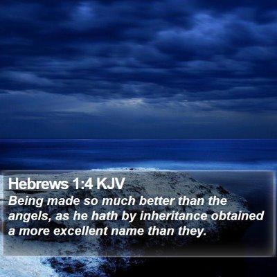 Hebrews 1:4 KJV Bible Verse Image