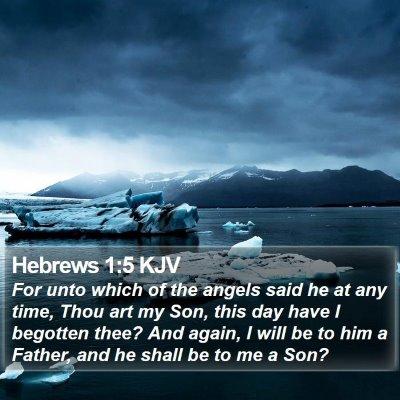 Hebrews 1:5 KJV Bible Verse Image