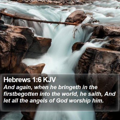 Hebrews 1:6 KJV Bible Verse Image