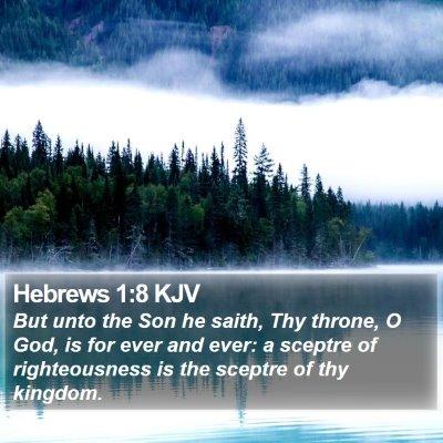 Hebrews 1:8 KJV Bible Verse Image