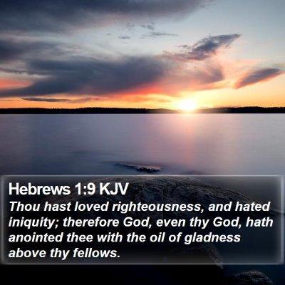 Hebrews 1:9 KJV Bible Verse Image