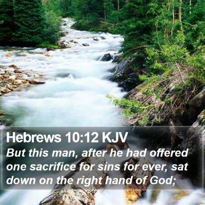 Hebrews 10:12 KJV Bible Verse Image