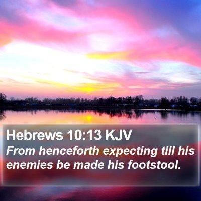 Hebrews 10:13 KJV Bible Verse Image