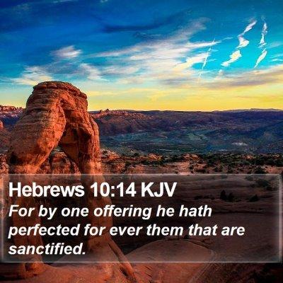 Hebrews 10:14 KJV Bible Verse Image