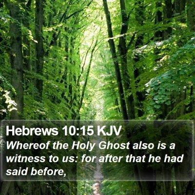 Hebrews 10:15 KJV Bible Verse Image