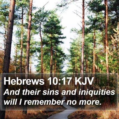 Hebrews 10:17 KJV Bible Verse Image