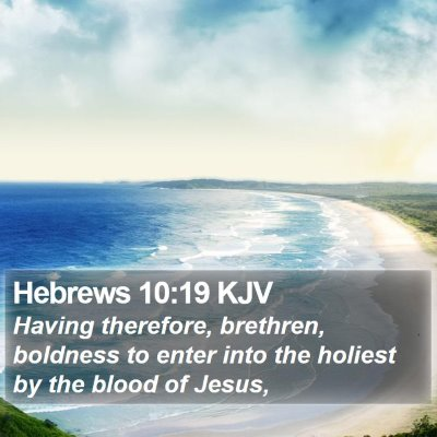 Hebrews 10:19 KJV Bible Verse Image