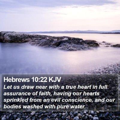 Hebrews 10:22 KJV Bible Verse Image