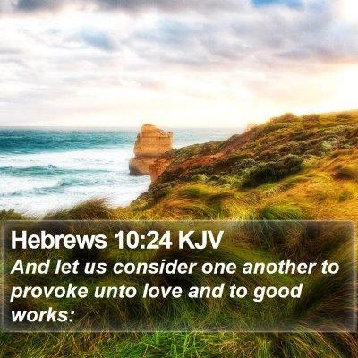 Hebrews 10:24 KJV Bible Verse Image
