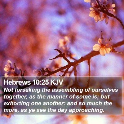 Hebrews 10:25 KJV Bible Verse Image