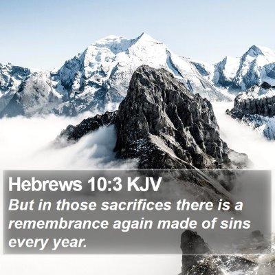 Hebrews 10:3 KJV Bible Verse Image