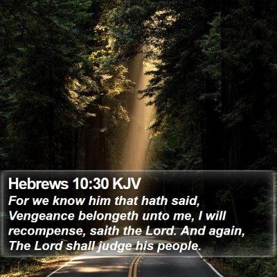Hebrews 10:30 KJV Bible Verse Image