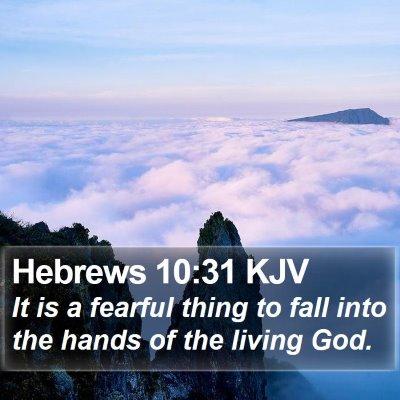 Hebrews 10:31 KJV Bible Verse Image