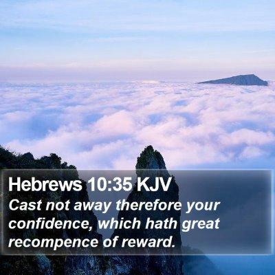 Hebrews 10:35 KJV Bible Verse Image
