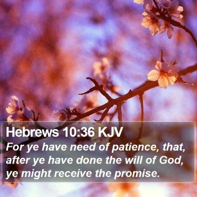 Hebrews 10:36 KJV Bible Verse Image