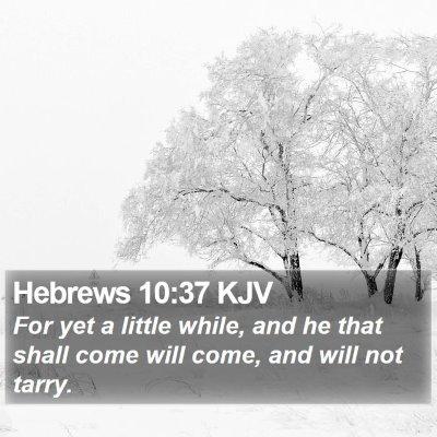 Hebrews 10:37 KJV Bible Verse Image