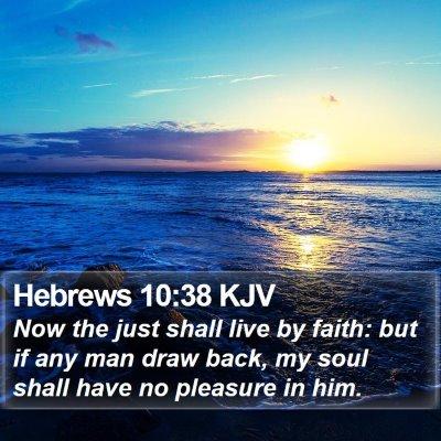 Hebrews 10:38 KJV Bible Verse Image