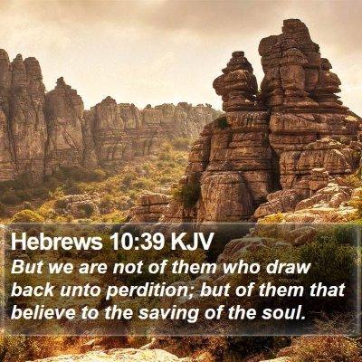 Hebrews 10:39 KJV Bible Verse Image