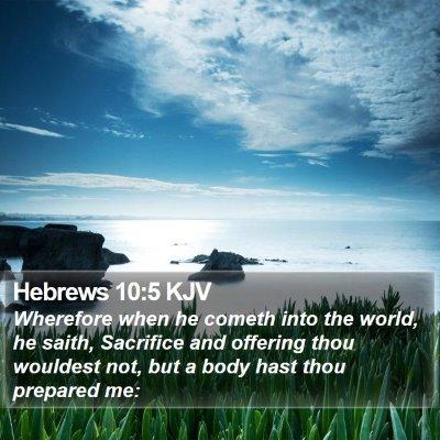 Hebrews 10:5 KJV Bible Verse Image