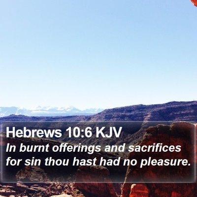 Hebrews 10:6 KJV Bible Verse Image