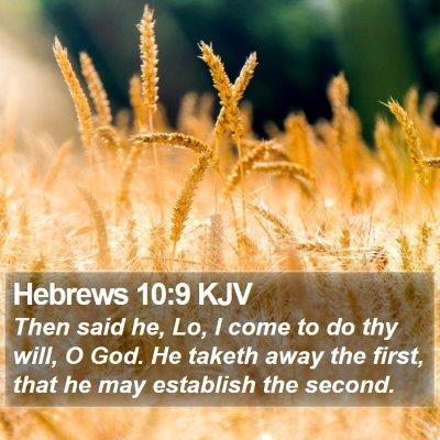 Hebrews 10:9 KJV Bible Verse Image