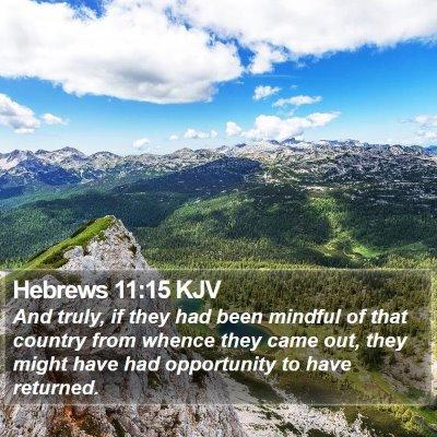 Hebrews 11:15 KJV Bible Verse Image