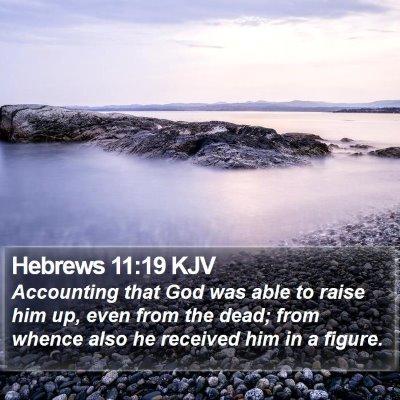 Hebrews 11:19 KJV Bible Verse Image