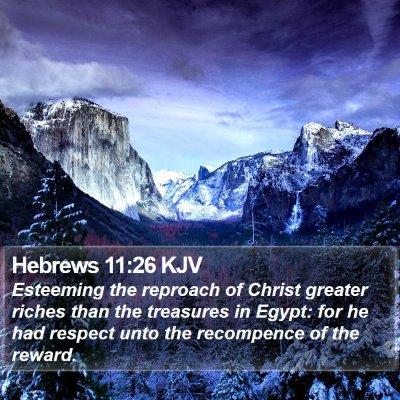 Hebrews 11:26 KJV Bible Verse Image
