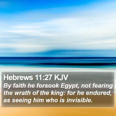 Hebrews 11:27 KJV Bible Verse Image
