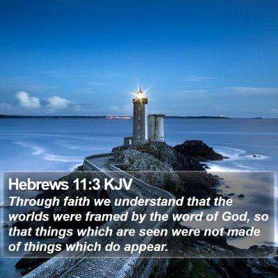 Hebrews 11:3 KJV Bible Verse Image