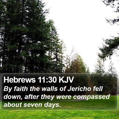 Hebrews 11:30 KJV Bible Verse Image