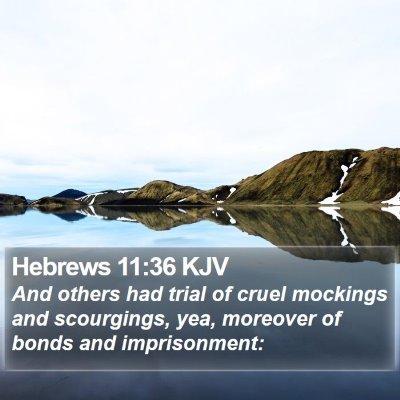 Hebrews 11:36 KJV Bible Verse Image