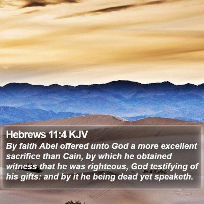 Hebrews 11:4 KJV Bible Verse Image