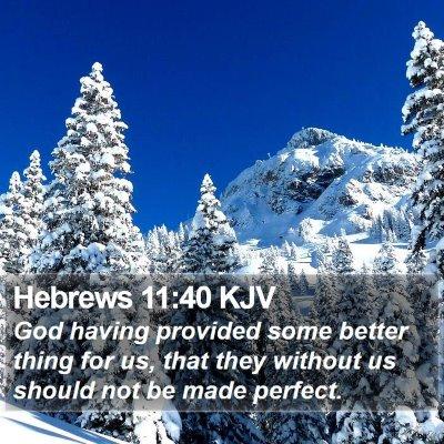 Hebrews 11:40 KJV Bible Verse Image