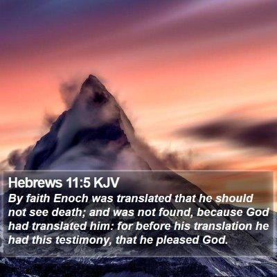 Hebrews 11:5 KJV Bible Verse Image
