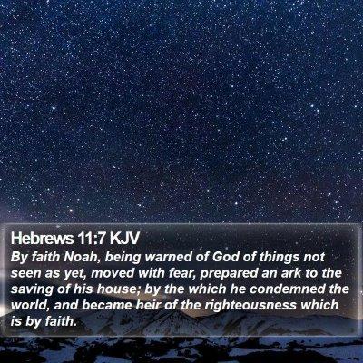 Hebrews 11:7 KJV Bible Verse Image