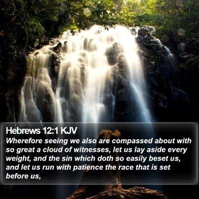 Hebrews 12:1 KJV Bible Verse Image