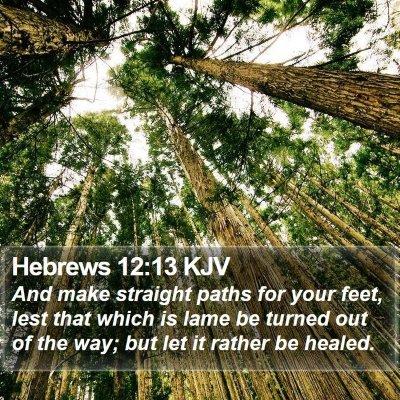 Hebrews 12:13 KJV Bible Verse Image