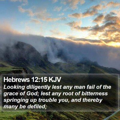 Hebrews 12:15 KJV Bible Verse Image